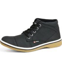 bota casual coturno sapatofran lançamento preto