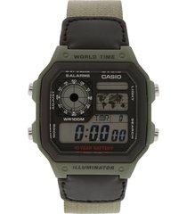 reloj verde casio
