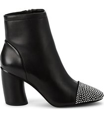 ilia embellished-toe leather booties