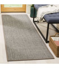 "safavieh natural fiber natural and taupe 2'6"" x 8' sisal weave runner area rug"