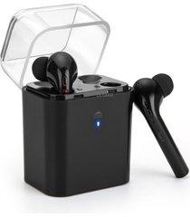 audífonos bluetooth inalámbricos, fun7 auriculares estéreo inalámbricos audifonos bluetooth manos libres  con soporte de caja de carga handfree (negro)