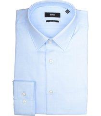 hugo boss overhemd eliott lichtblauw rf 50427203/450 - maat 40 - maat 40 - maat 40 - maat 40