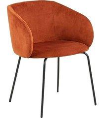 krzesło fotel craving tapicerowane miedziane