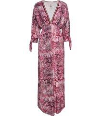 abito lungo con scollo a v (fucsia) - bodyflirt boutique
