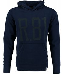 replay blauwe sweater hoodie