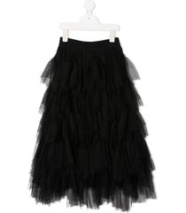 monnalisa tiered tulle skirt - black