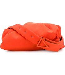 bottega veneta ruched detail adjustable strap shoulder bag - orange