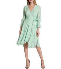 tahari asl surplice a-line dress