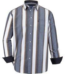 overhemd babista blauw::bruin::wit