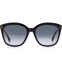 women's kate spade new york pella 55mm gradient cat eye sunglasses - black/ grey shaded