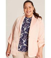 blazer manga recogida rosado 24