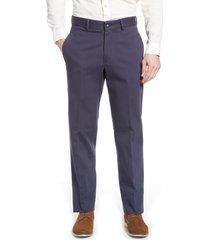 men's berle charleston pleated chino pants, size 40 - blue