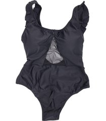 traje de baño transparencia negro lisantino