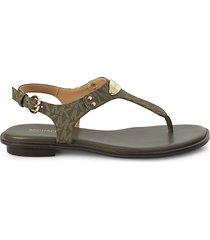 mk plate thong sandals