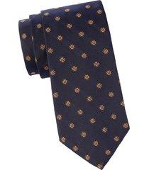 brooks brothers men's floral silk tie - navy