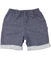 shorts beb㪠moletinho ano zero  trend fleece barras viradas marinho - azul marinho - menino - dafiti