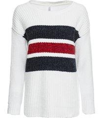 maglione in ciniglia (bianco) - rainbow