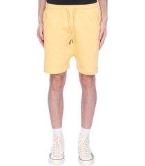drôle de monsieur shorts in yellow cotton