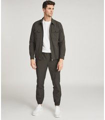 reiss eastbourne - cuffed technical pants in, mens, size 38