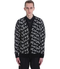 givenchy cardigan in black wool