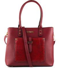 bolso femenino rojo con bolsillo delantero marca cosmos