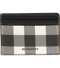 burberry kier - check e-canvas and leather card case