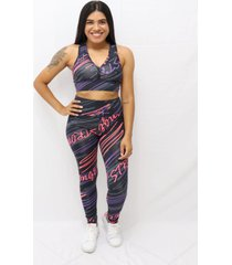 top com estampa sublimada stronger multicolorido - kanui