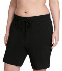 jockey plus size everyday essentials cotton bermuda sleep shorts