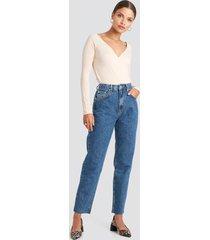 na-kd straight jeans - blue