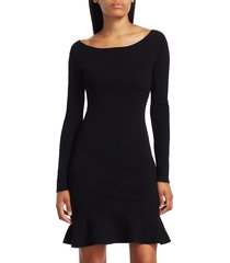 bailey 44 women's tara long-sleeve ruffle-hem dress - madder - size l