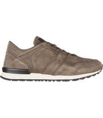 scarpe sneakers uomo in pelle allacciato spoiler