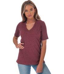 henri lloyd womens jayne vee neck t-shirt size 18 in red