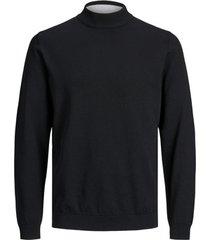 trui jack & jones 12170060 jprblacamp knit high neck black