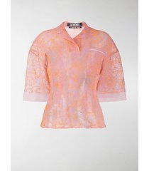 jacquemus lavandou rose print blouse