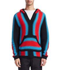 baja stripe hoodie