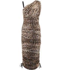 dolce & gabbana tulle one-shoulder dress