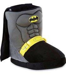 batman dc plush boot costume slippers w/ cape sz. 7/8, 9/10, 11/12, 13/1 or 2/3