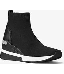 mk sock sneaker skyler in maglia stretch - nero (nero) - michael kors