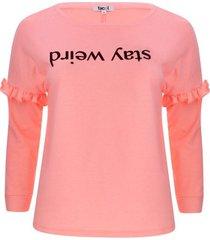 buzo con screen y arandela color rosado, talla 20