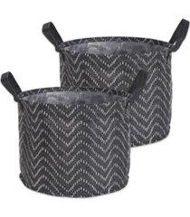 design imports polyethylene coated woven paper laundry bin tribal chevron round medium set of 2