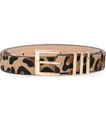 b-low the belt leopard print belt - brown