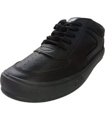 zapatilla negra sibenik escolar cuerina