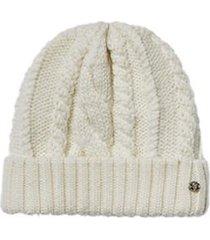 women's helen kaminski fitted cable stitch merino wool beanie -