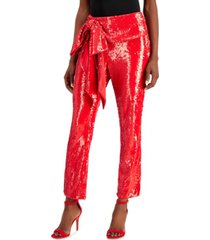 inc allover-sequin tie-waist pants, created for macy's