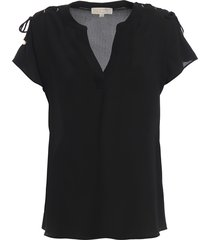 crepe blouse with laces