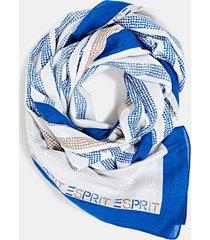 pañuelo estampado algodón ecológico azul esprit