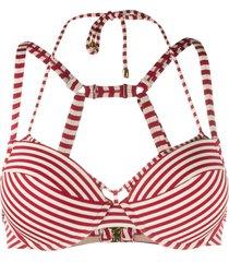 marlies dekkers striped push-up bikini top - red