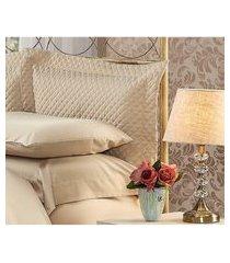 fronha para travesseiro 50x90cm matelasse soft touch marrom plumasul