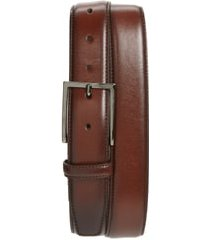 men's nordstrom men's shop marco burnished leather belt, size 40 - brown chestnut