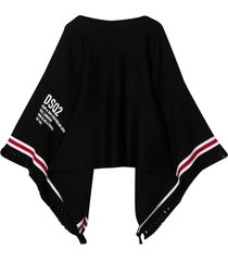 dsquared2 black poncho teen